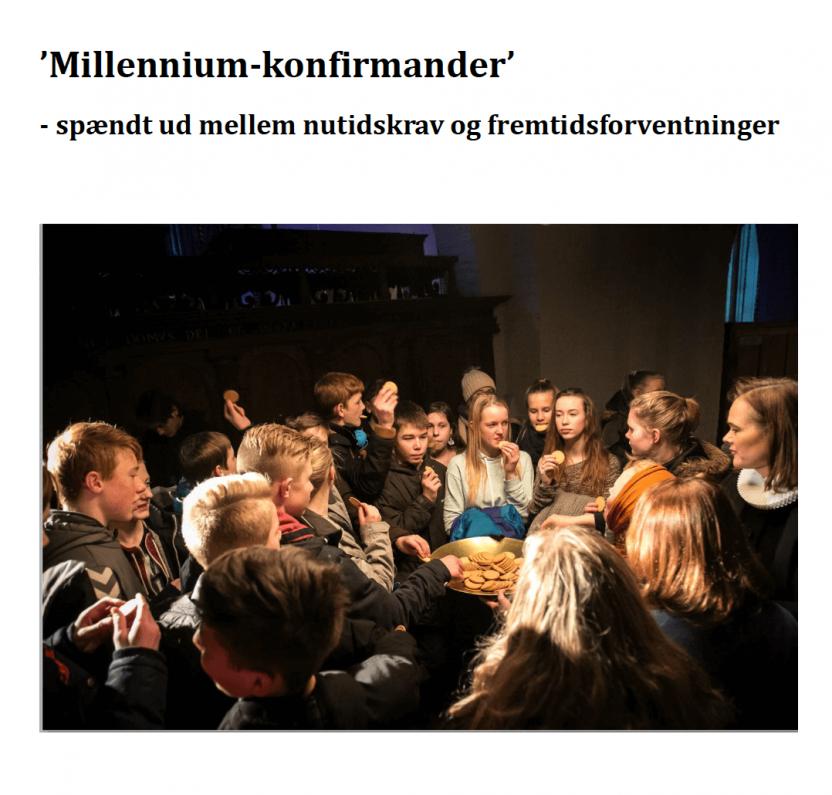 Millenium-konfirmander – spændt ud mellem nutidskrav og fremtidsforventninger
